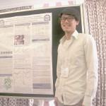 Kelvin with his poster at the Enzyme Mechanisms Conference, Jan 2011