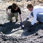 Danny and Tyler sampling 100 C mud pot
