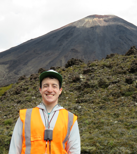 Robby commences his Fulbright by mapping volcanic units at Ngauruhoe volcano, New Zealand