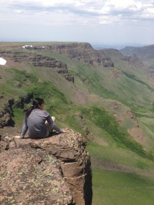 Nola after butterfly surveys up on Steens mountain.