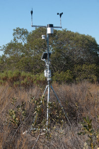 The weather station assembled and functioning. Nancy Hamlett.