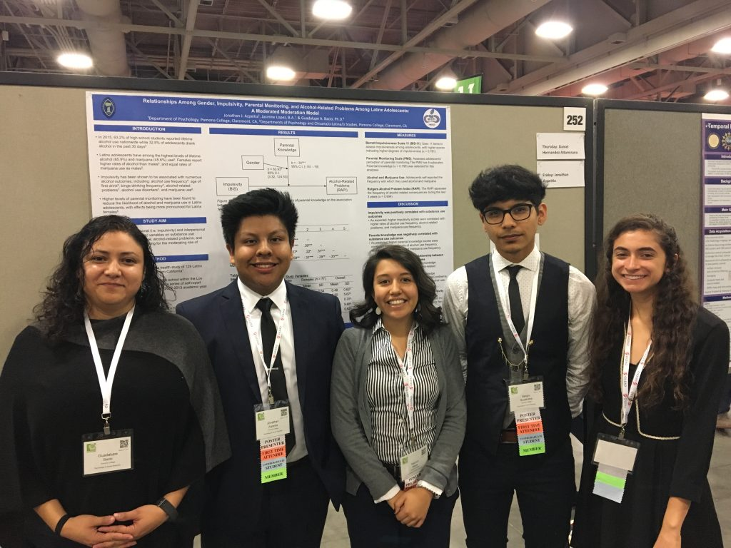 Prof. Bacio, Jovany, Yazmin, Sergio, and Jen at SACNAS 2017