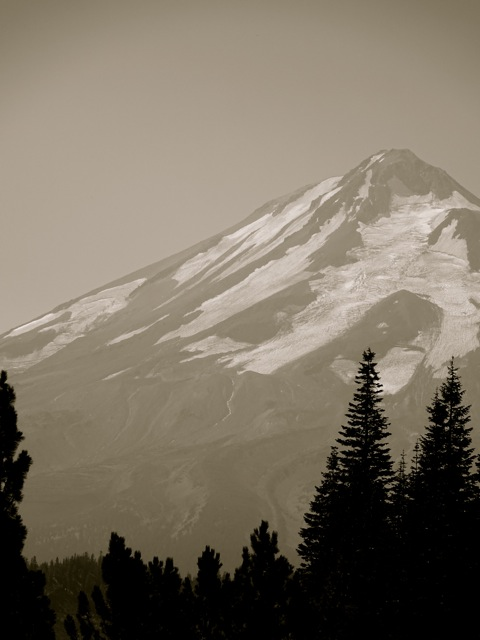-- the topography of Mt. Shasta