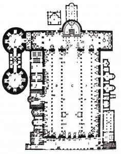 Tiberio Alfarano, plan, Old St. Peter's (1590)